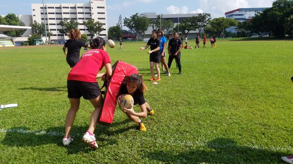 Girls Contact Rugby 7s Training