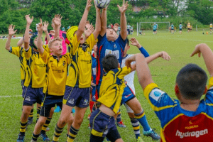 contested line out junior rugby singapore