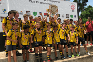 lifting the shield for centaurs rugby