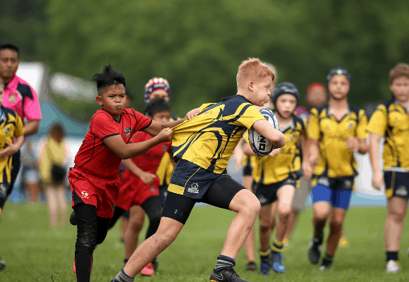 centaurs kid breaking through tackle