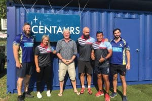 centaurs rugby singagpore staff with ex new zealand rugby players